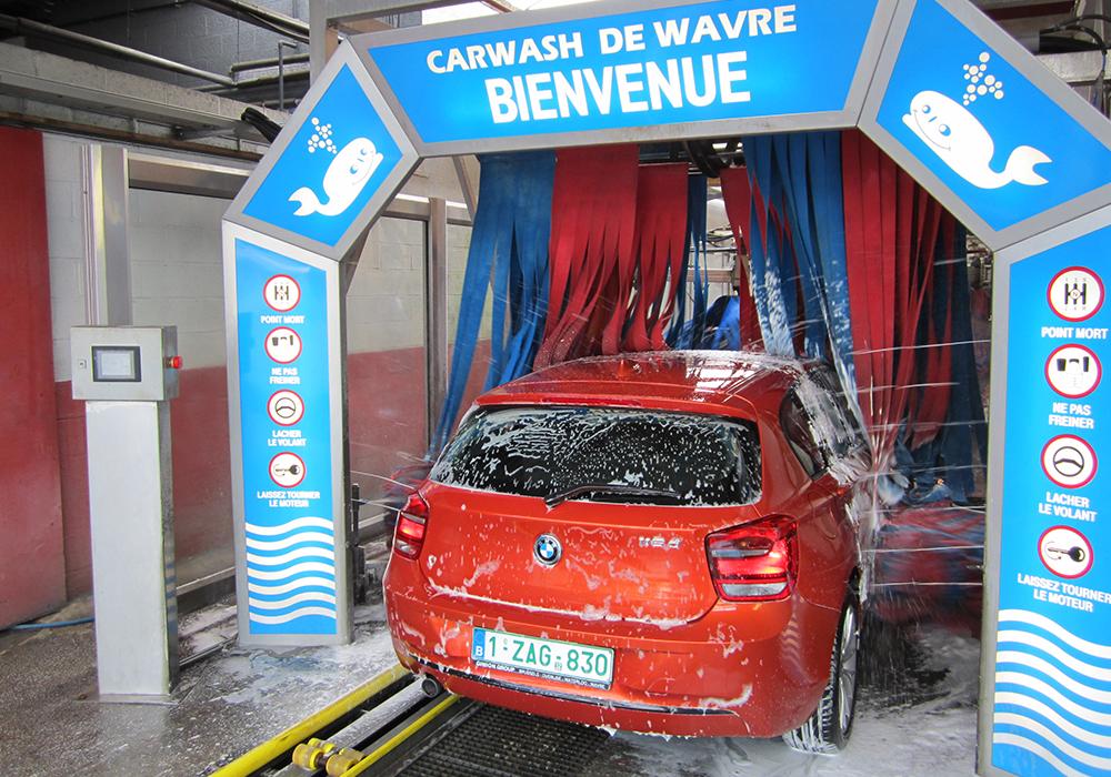 demarrage carwash tunnel voiture autowash wavre belgique